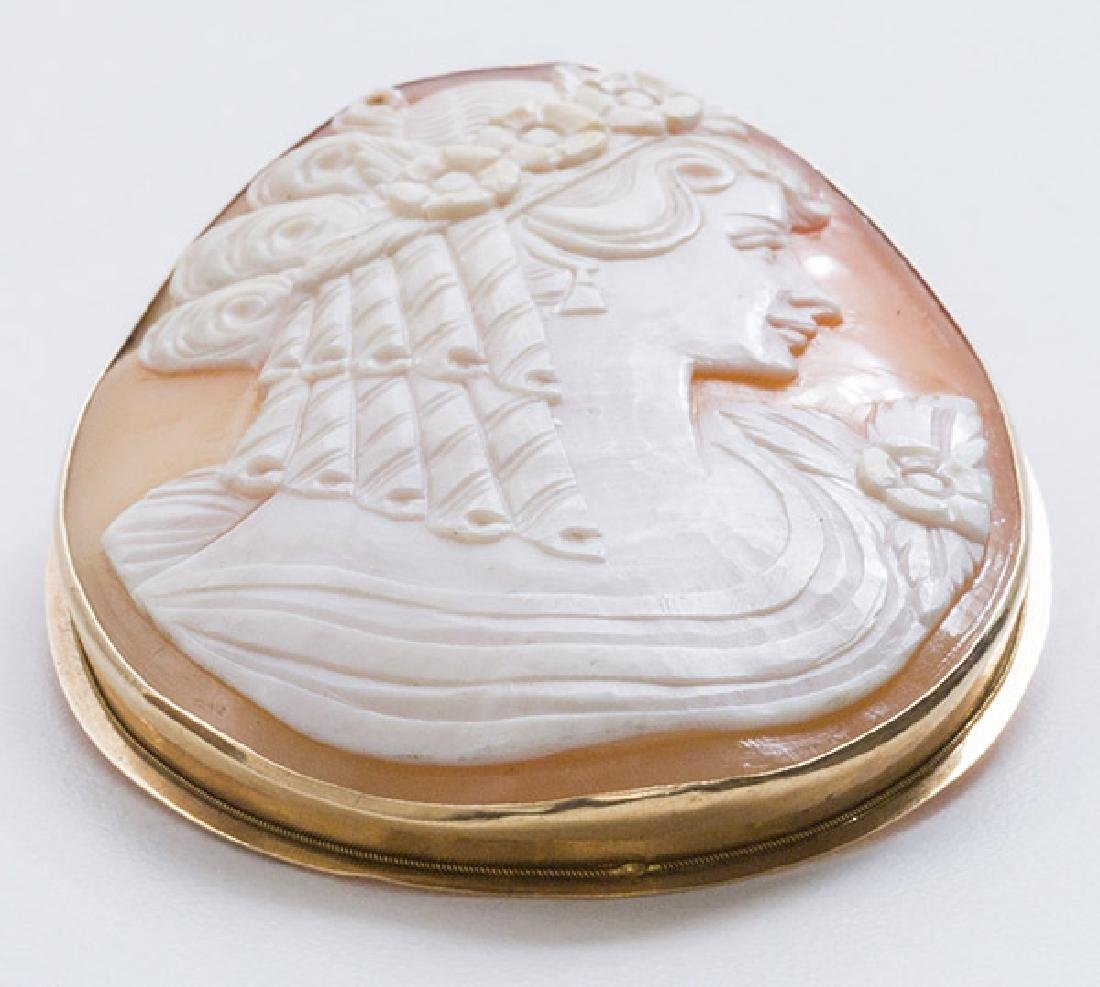 Oval Cameo Pin/Pendant - 5