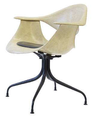George Nelson & Associates Swaged Leg Chairs