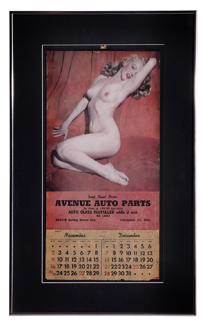 Marilyn Monroe Advertising Calendar