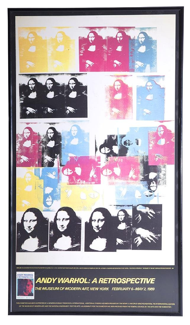 Rare Andy Warhol Mona Lisa Poster