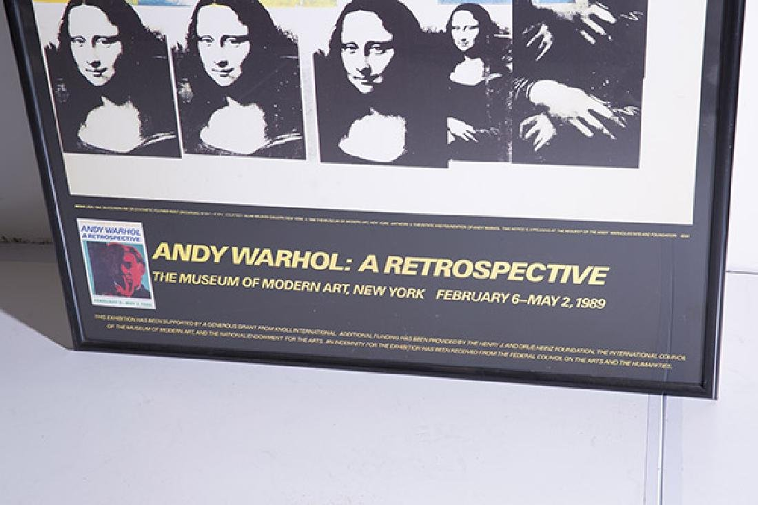 Rare Andy Warhol Mona Lisa Poster - 2