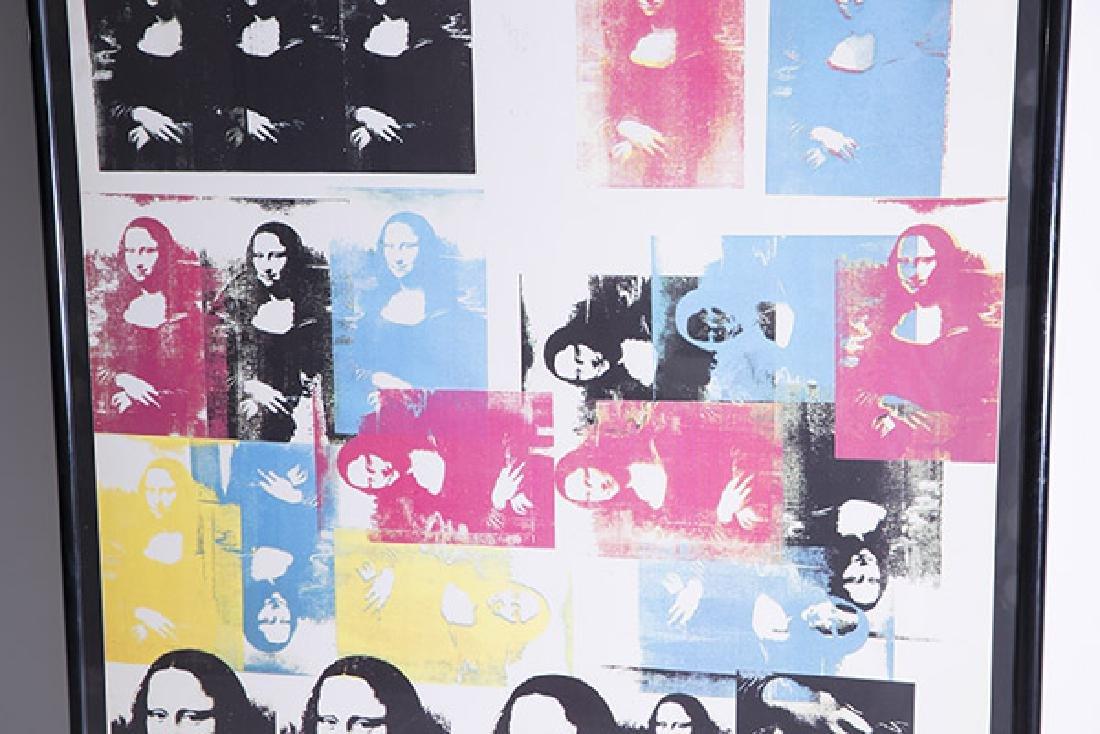 Rare Andy Warhol Mona Lisa Poster - 3