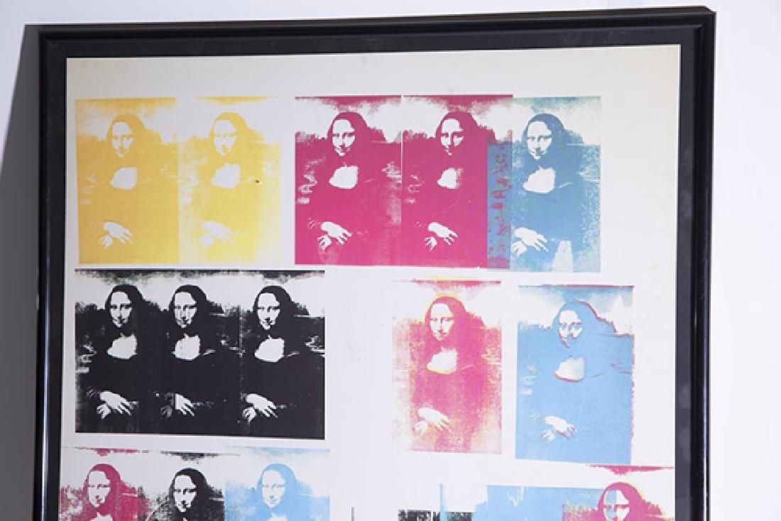 Rare Andy Warhol Mona Lisa Poster - 4