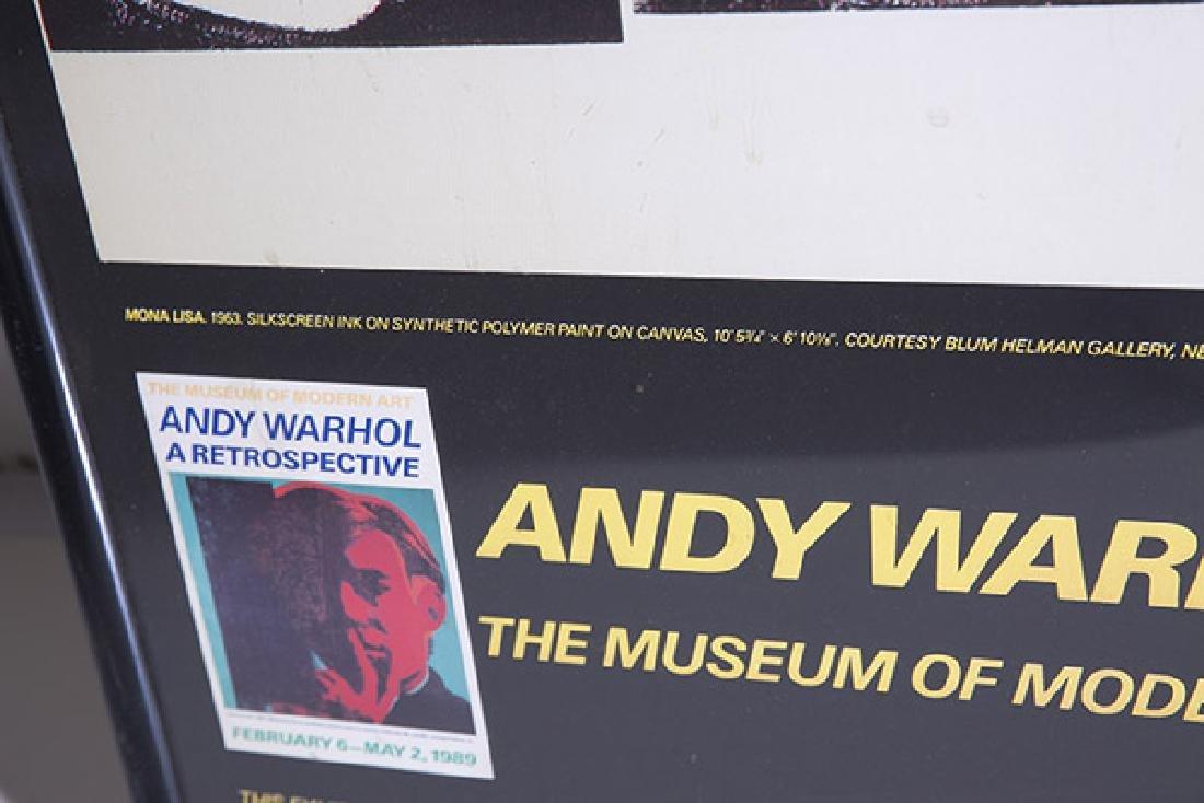Rare Andy Warhol Mona Lisa Poster - 5
