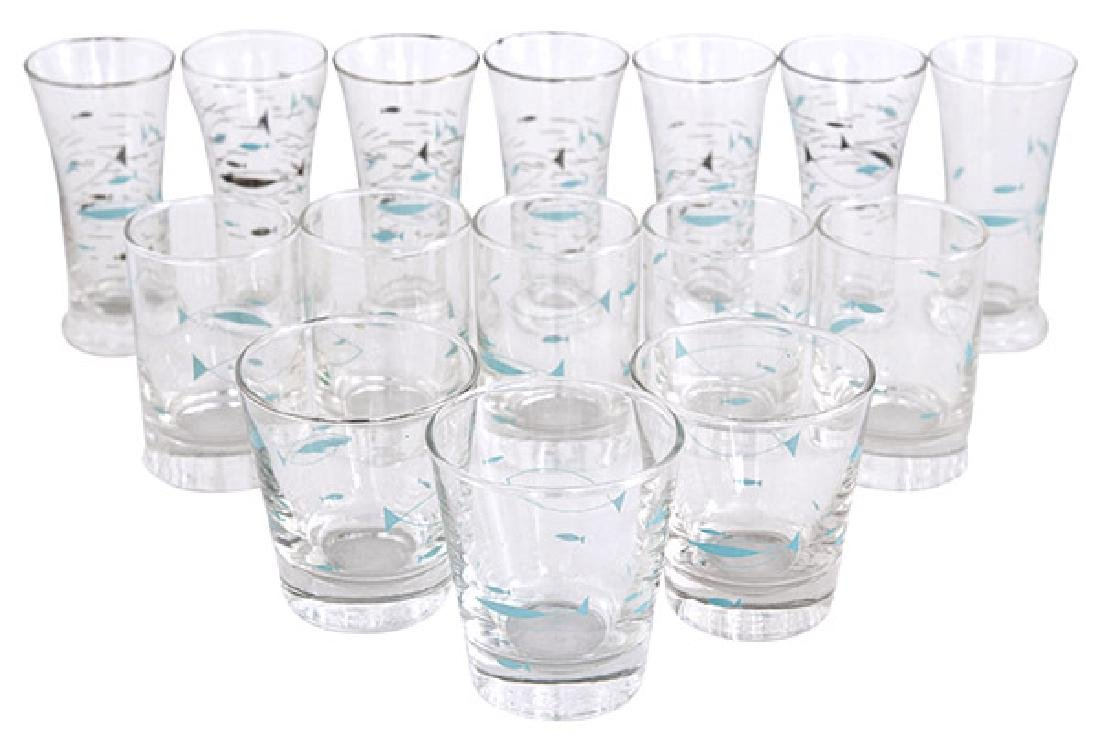 Libbey Atomic Fish Glasses