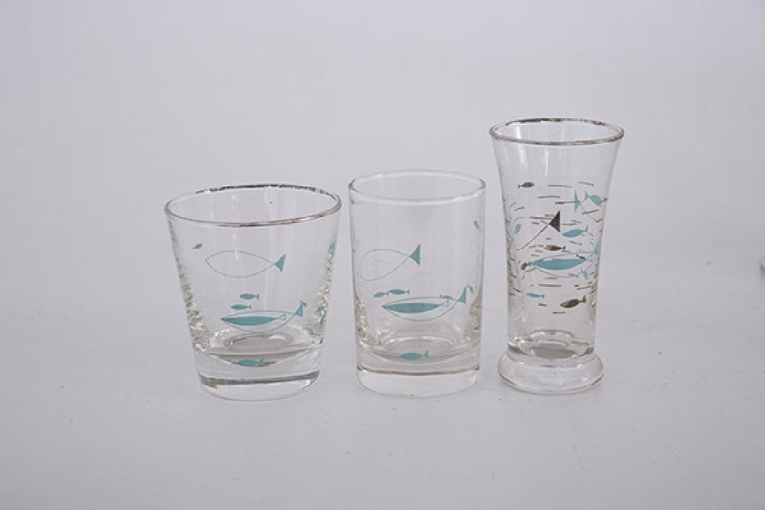 Libbey Atomic Fish Glasses - 2