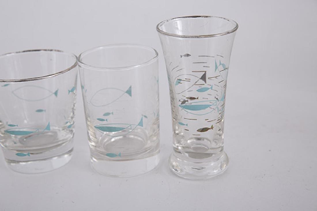 Libbey Atomic Fish Glasses - 3