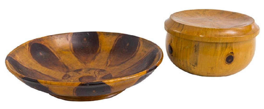 Exotic Wood Box and Bowl