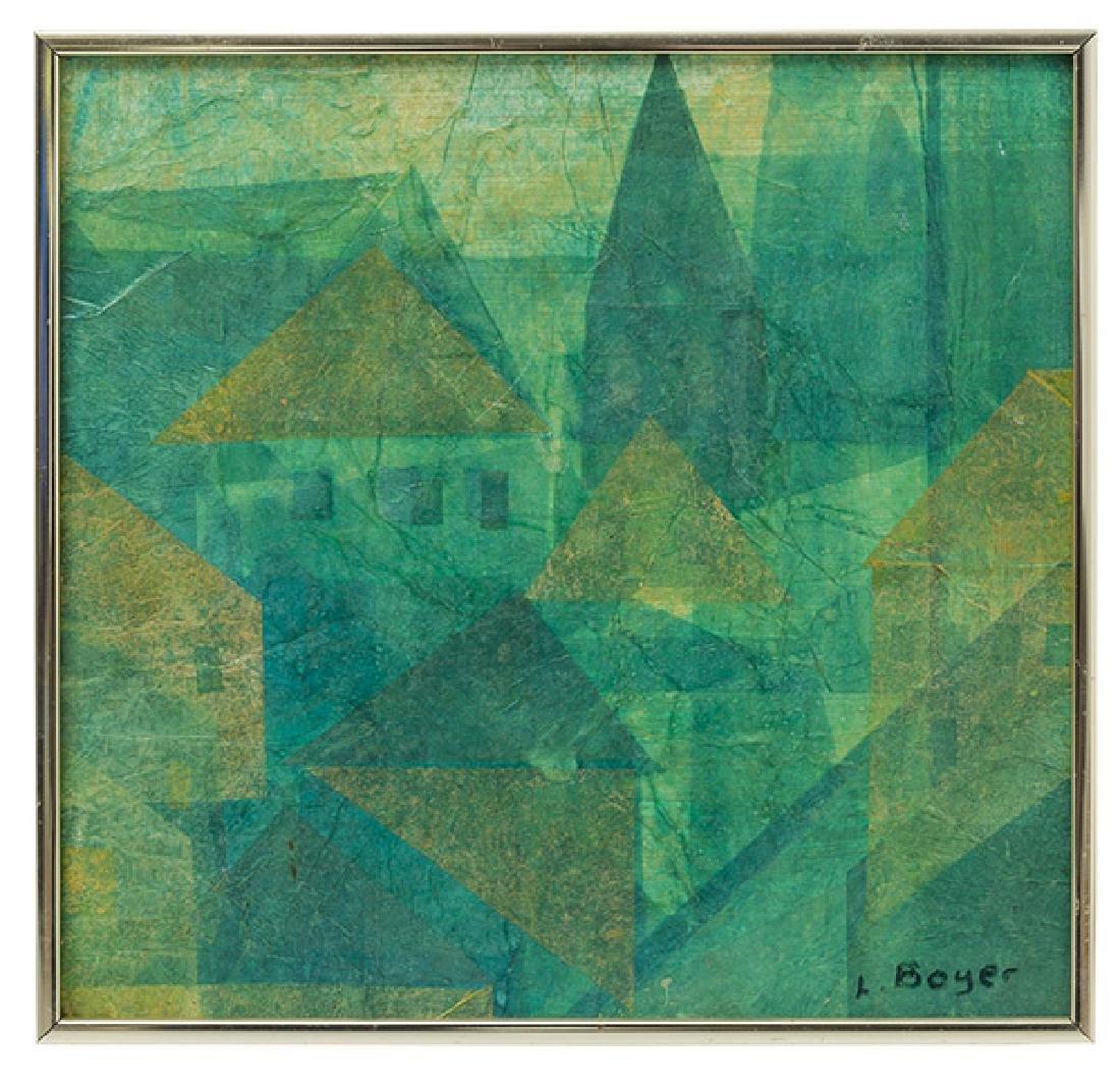 L. Boyer Oil/Collage