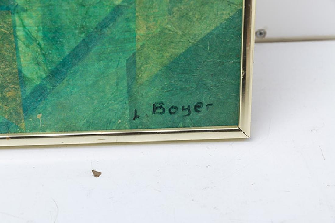 L. Boyer Oil/Collage - 2