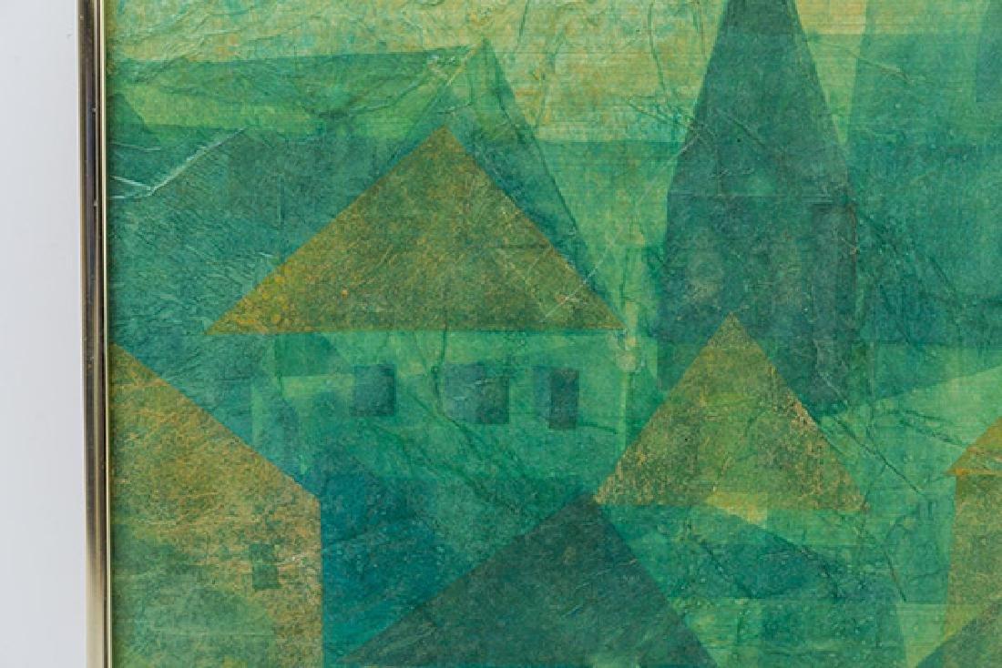 L. Boyer Oil/Collage - 3