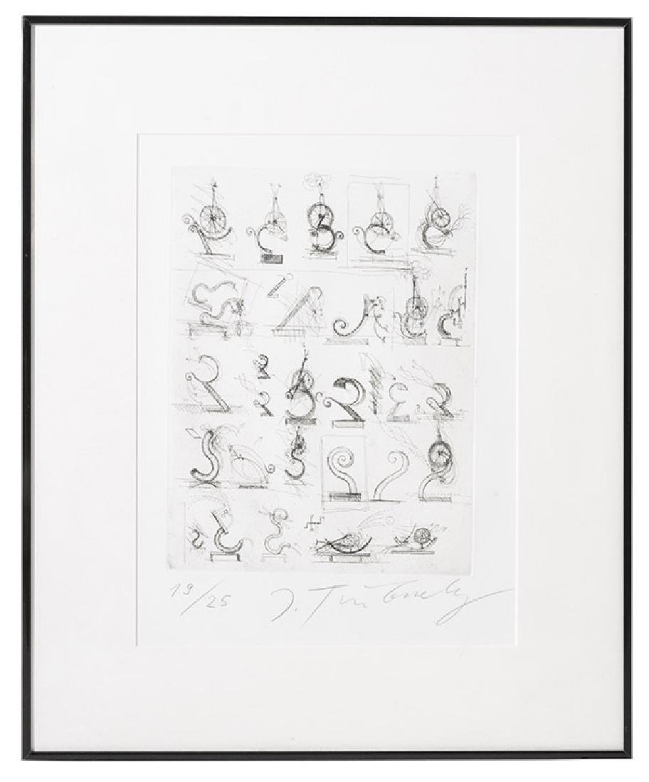 Jean Tinguely (1925-1991) Etching (France/Switzerland)