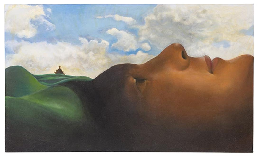 E Sanada Surrealist Acrylic