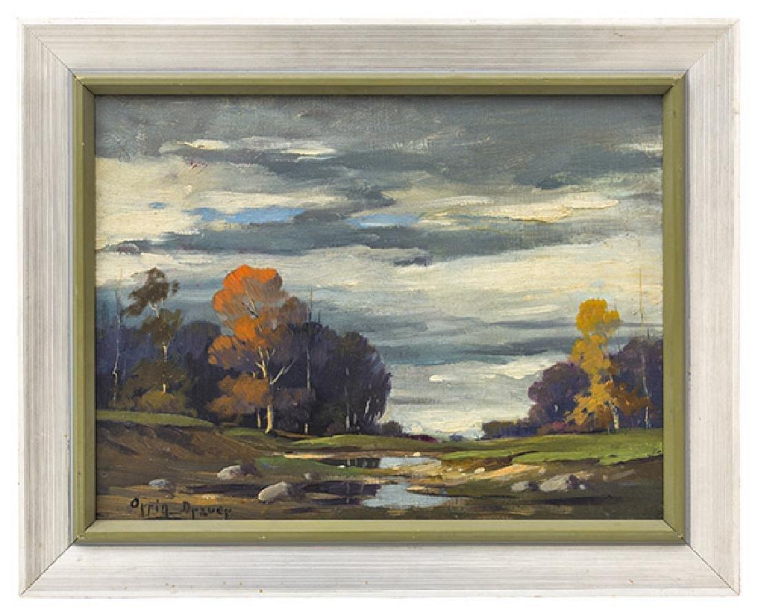 Orrin Draver (1895-1964) Oil (Indiana, Nebraska)