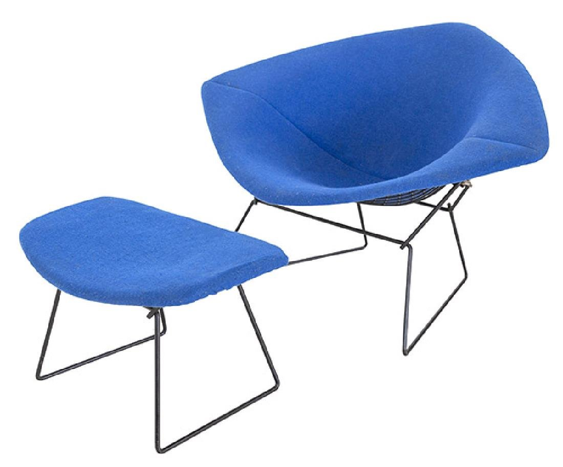 Harry Bertoia Wide Diamond Chair & Ottoman