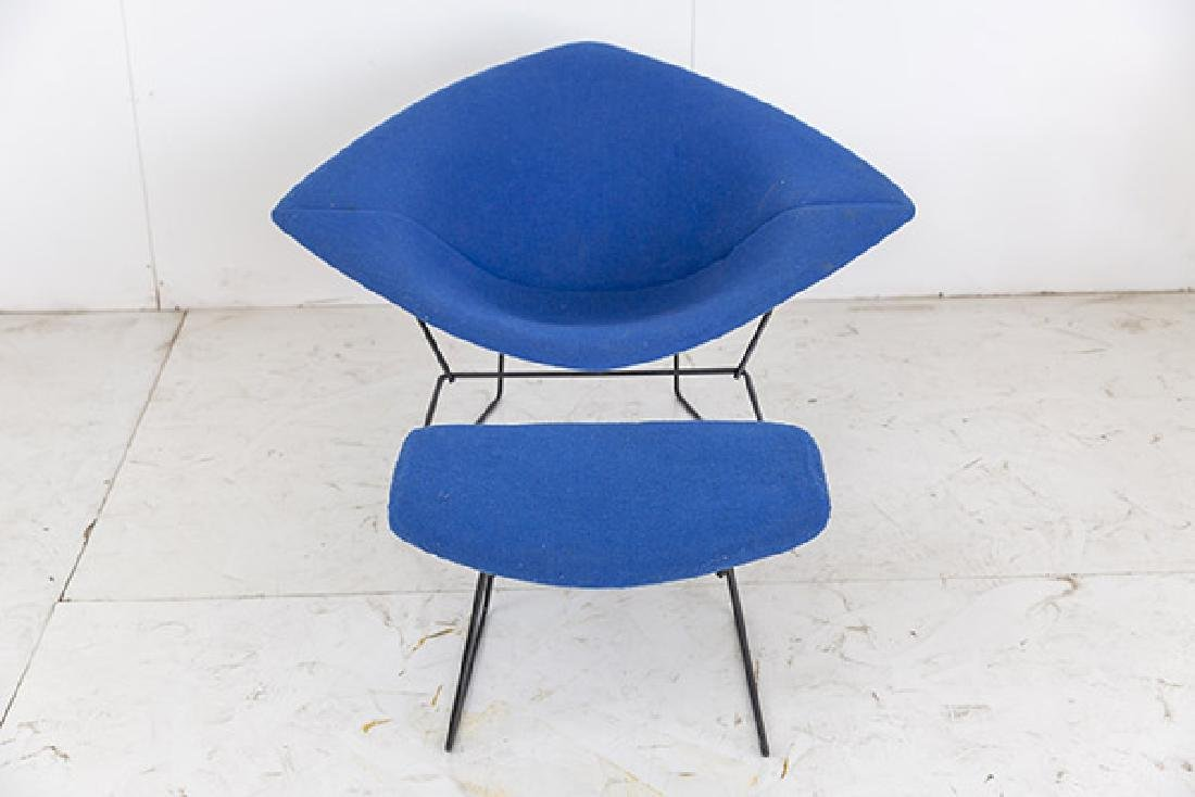 Harry Bertoia Wide Diamond Chair & Ottoman - 3