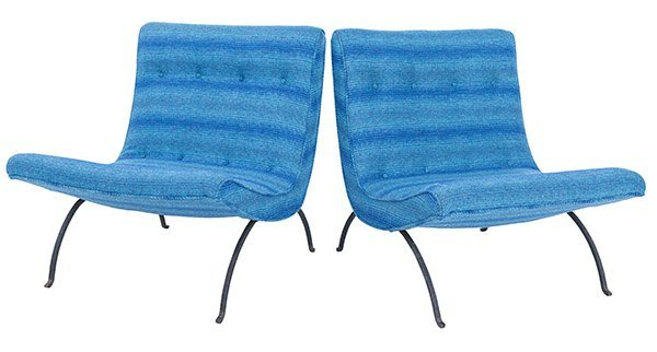 Milo Baughman Scoop Lounge Chairs