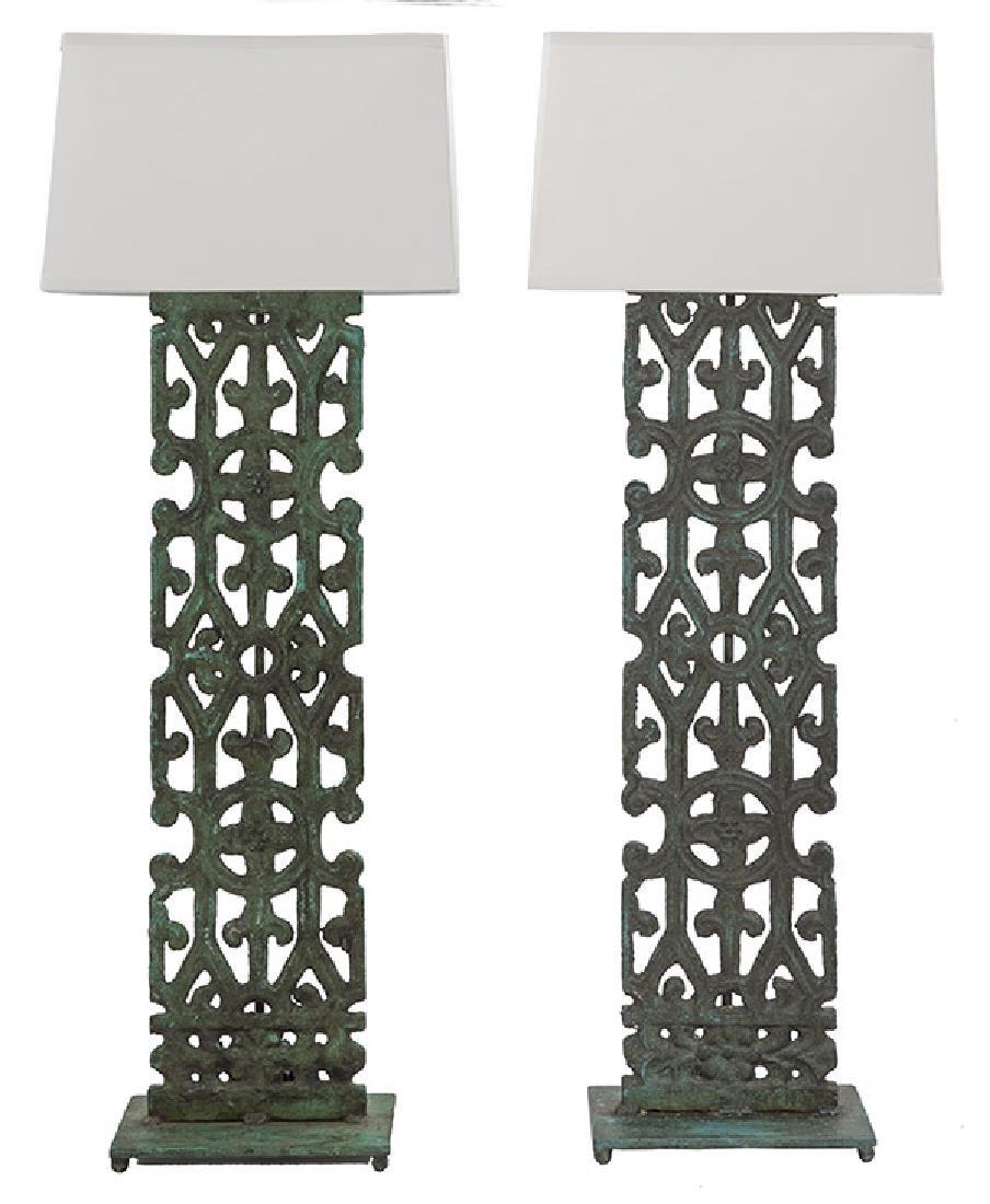 Mid Century Bronze Lamps