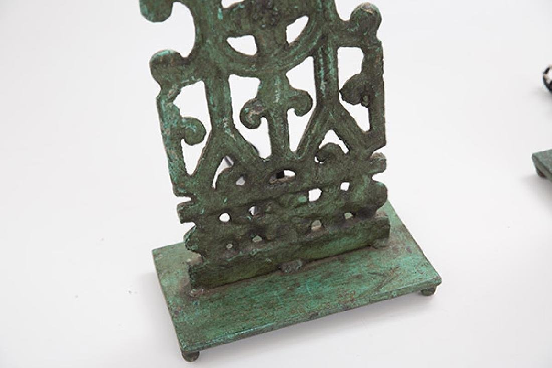 Mid Century Bronze Lamps - 2