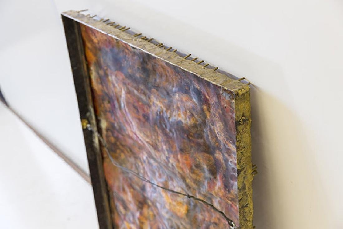 Copper Wall Relief Nail Sculpture - 6