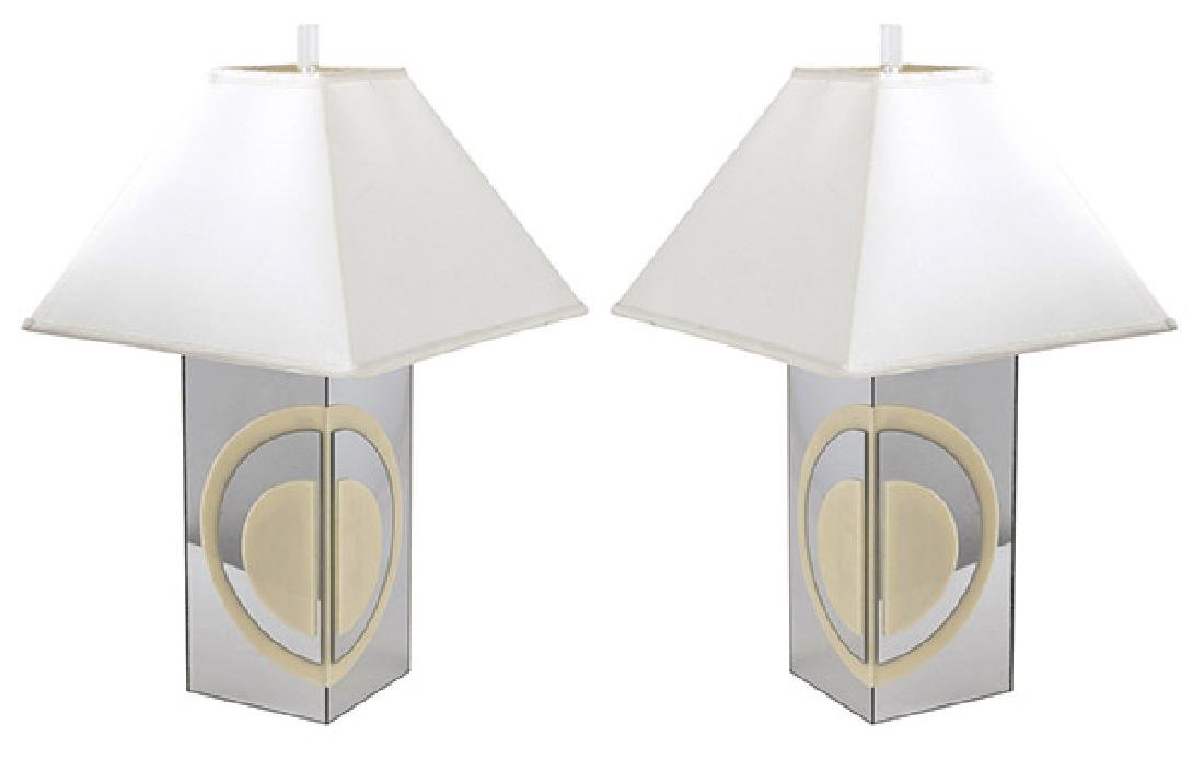 Mid-Century Pop Art Table Lamps