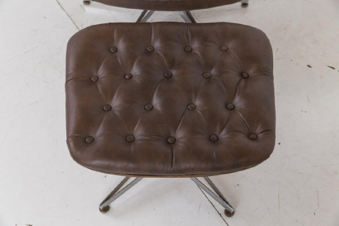 George Mulhauser Mr. Chair and Ottoman - 2