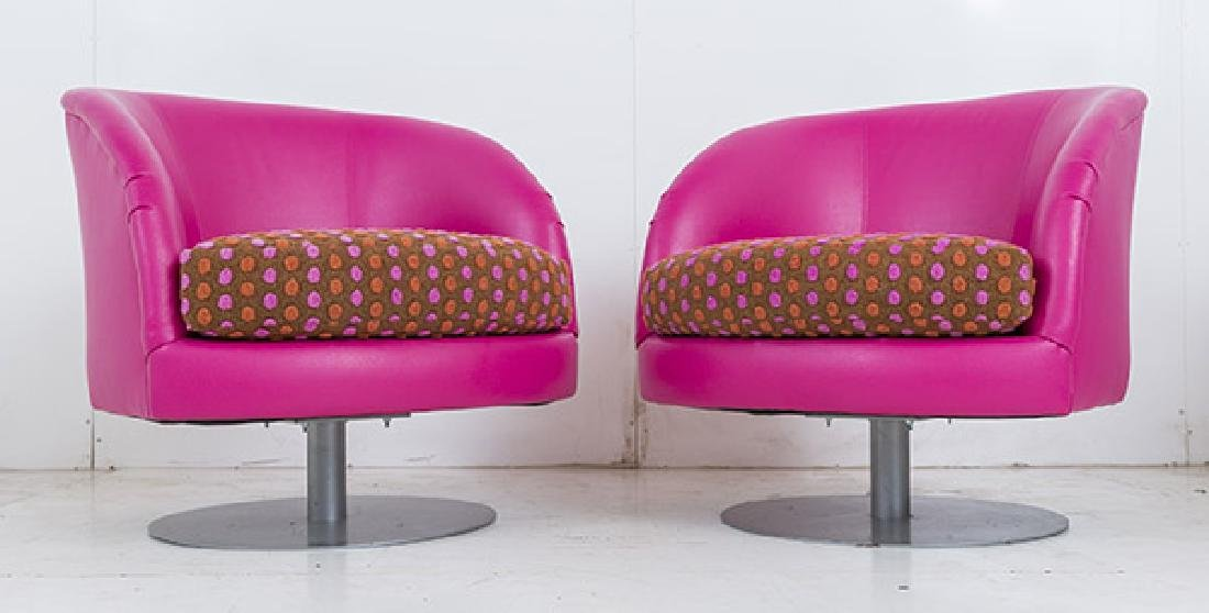 Custom Carter Swivel Lounge Chairs - 2