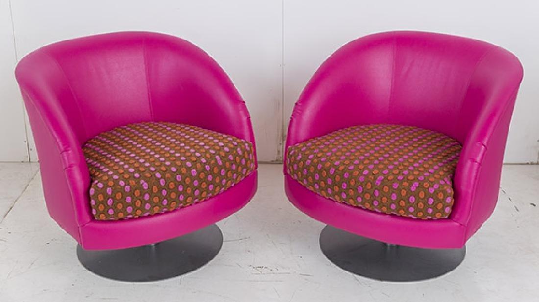 Custom Carter Swivel Lounge Chairs - 5