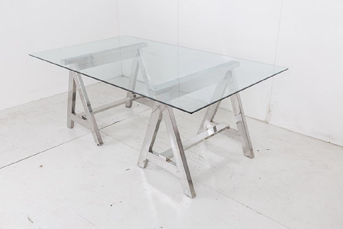 Ralph Lauren Saw Horse Desk/Dining Table - 9