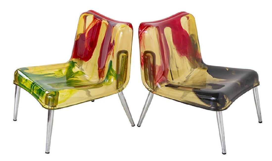 Rare Cast Resin Italian Lounge Chairs