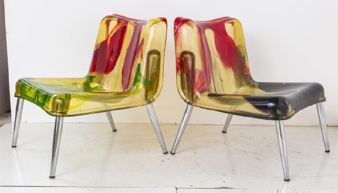 Rare Cast Resin Italian Lounge Chairs - 2