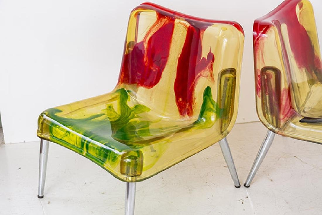 Rare Cast Resin Italian Lounge Chairs - 3