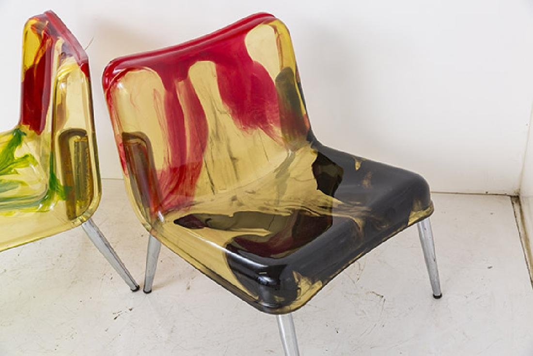 Rare Cast Resin Italian Lounge Chairs - 4