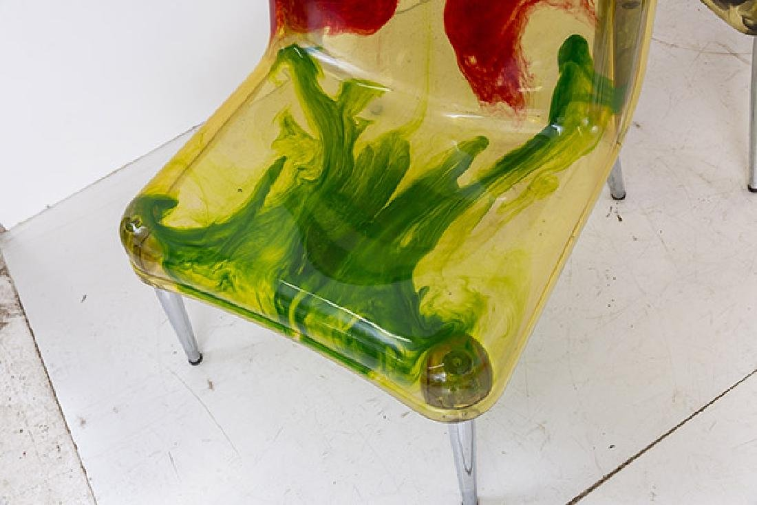 Rare Cast Resin Italian Lounge Chairs - 5