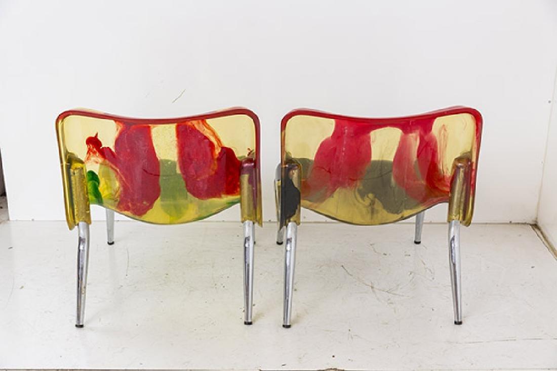 Rare Cast Resin Italian Lounge Chairs - 6