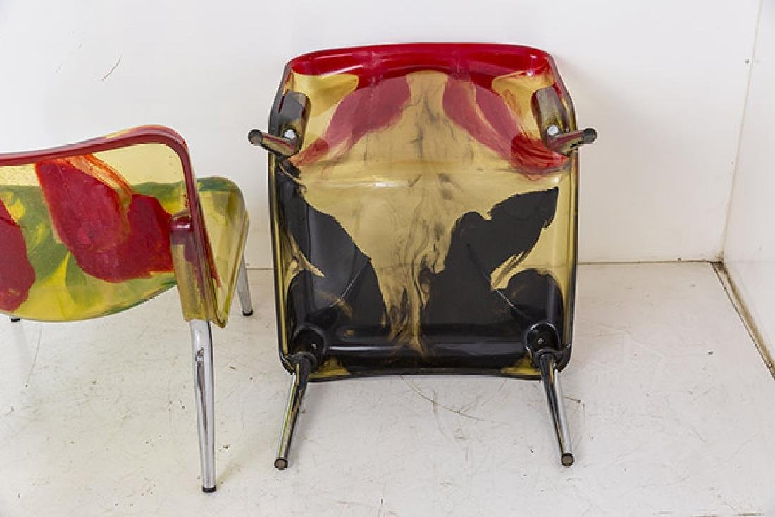 Rare Cast Resin Italian Lounge Chairs - 9