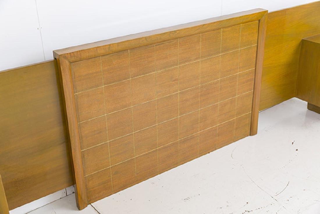 Rare Norman Bel Geddes Headboard with Nightstands - 4