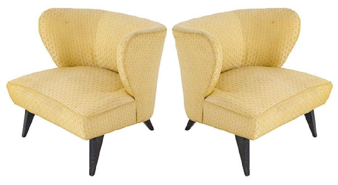 Rare Norman Bel Geddes Slipper Chairs