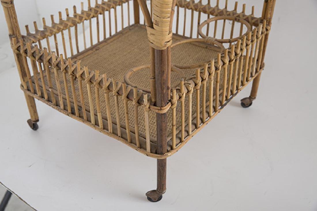Italian Wicker Tea Cart - 8