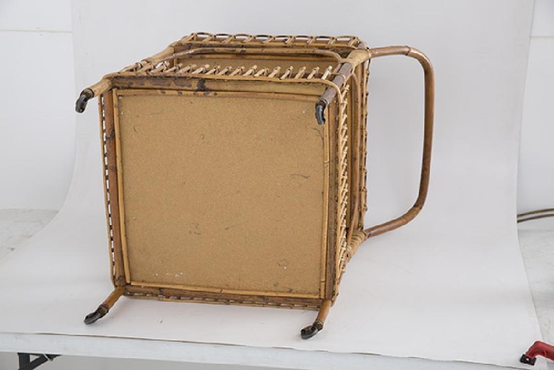 Italian Wicker Tea Cart - 9