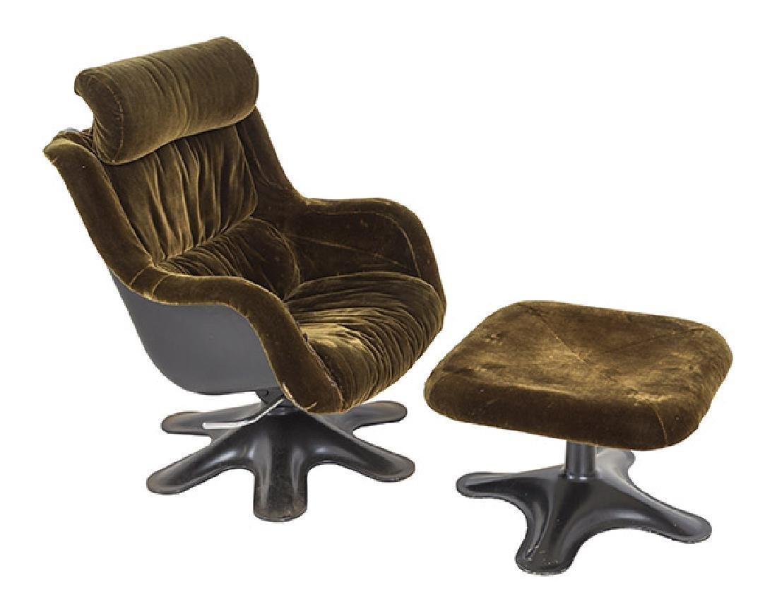 Yrjo Kukkapuro Karnselli Lounge Chair and Ottoman