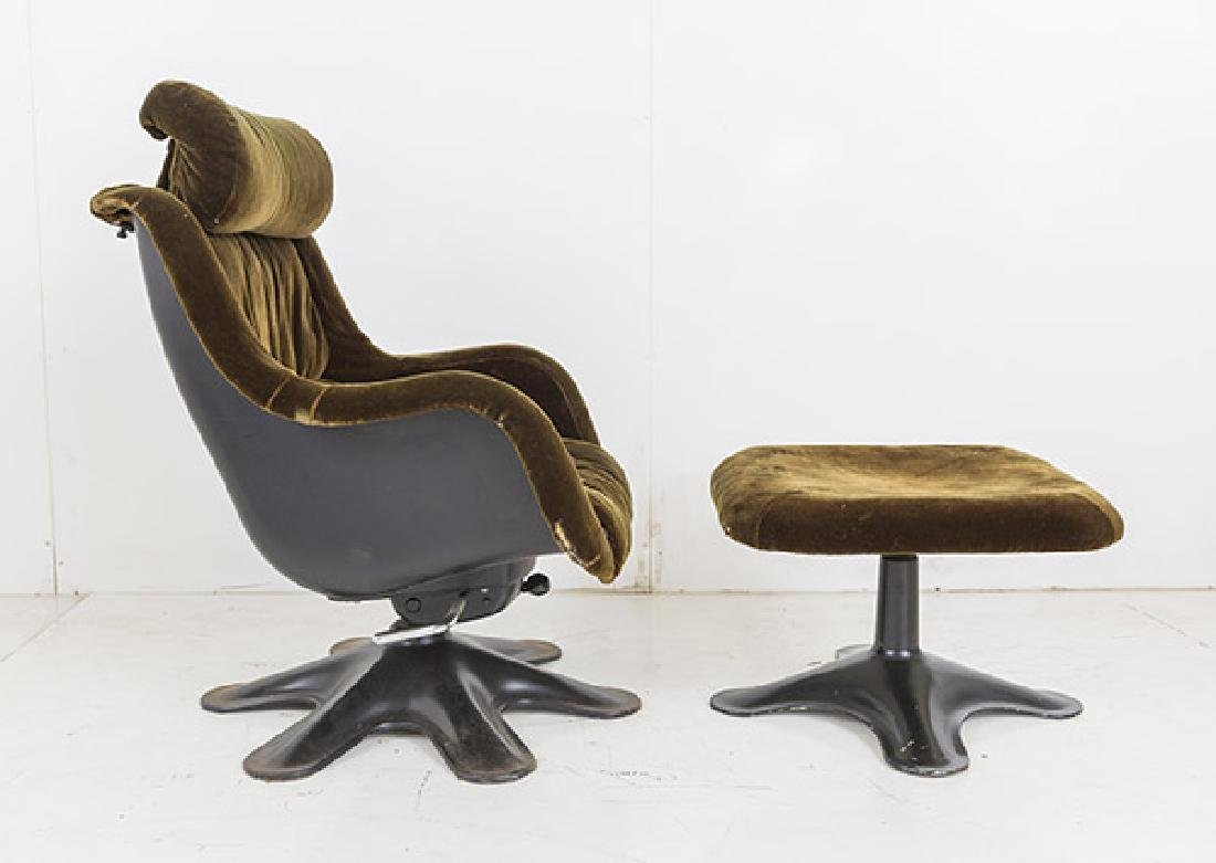 Yrjo Kukkapuro Karnselli Lounge Chair and Ottoman - 2