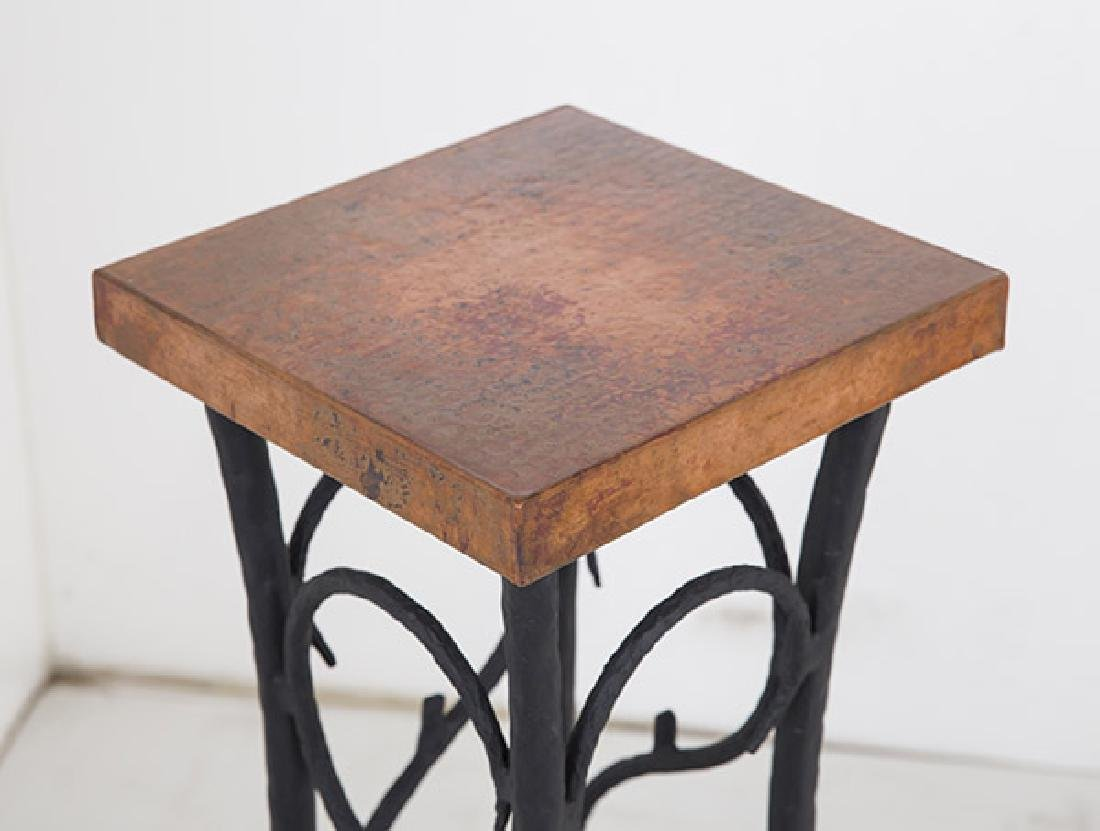 Custom Iron and Copper Pedestal - 2
