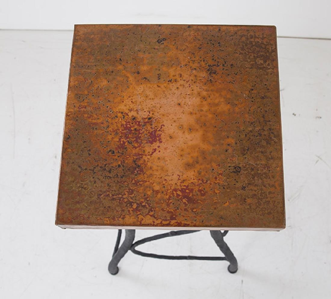 Custom Iron and Copper Pedestal - 3