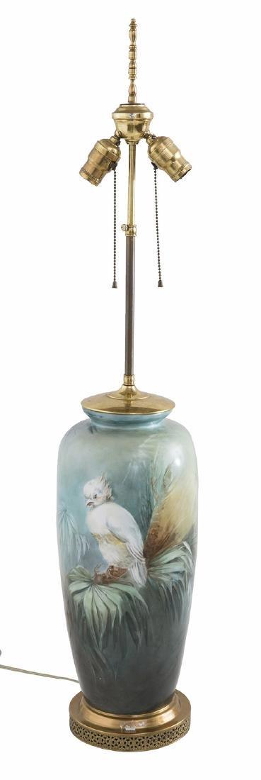 Art Nouveau Porcelain Table Lamp