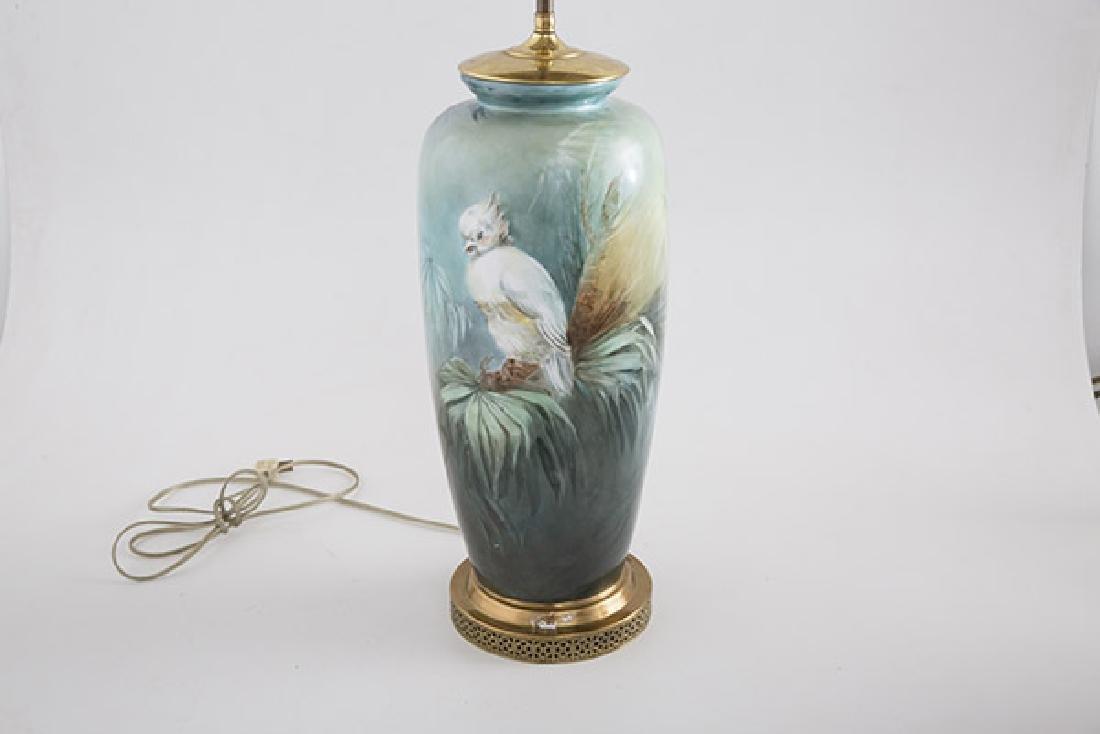 Art Nouveau Porcelain Table Lamp - 2