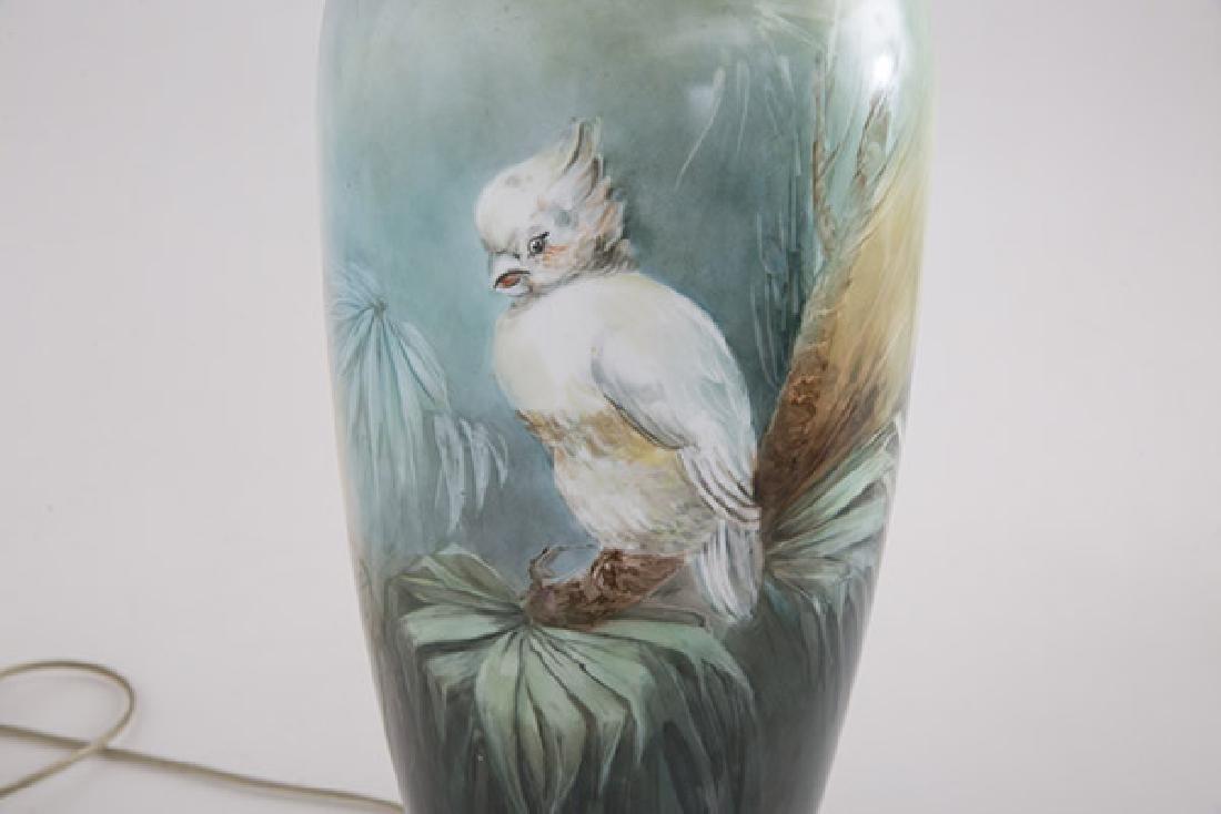 Art Nouveau Porcelain Table Lamp - 3