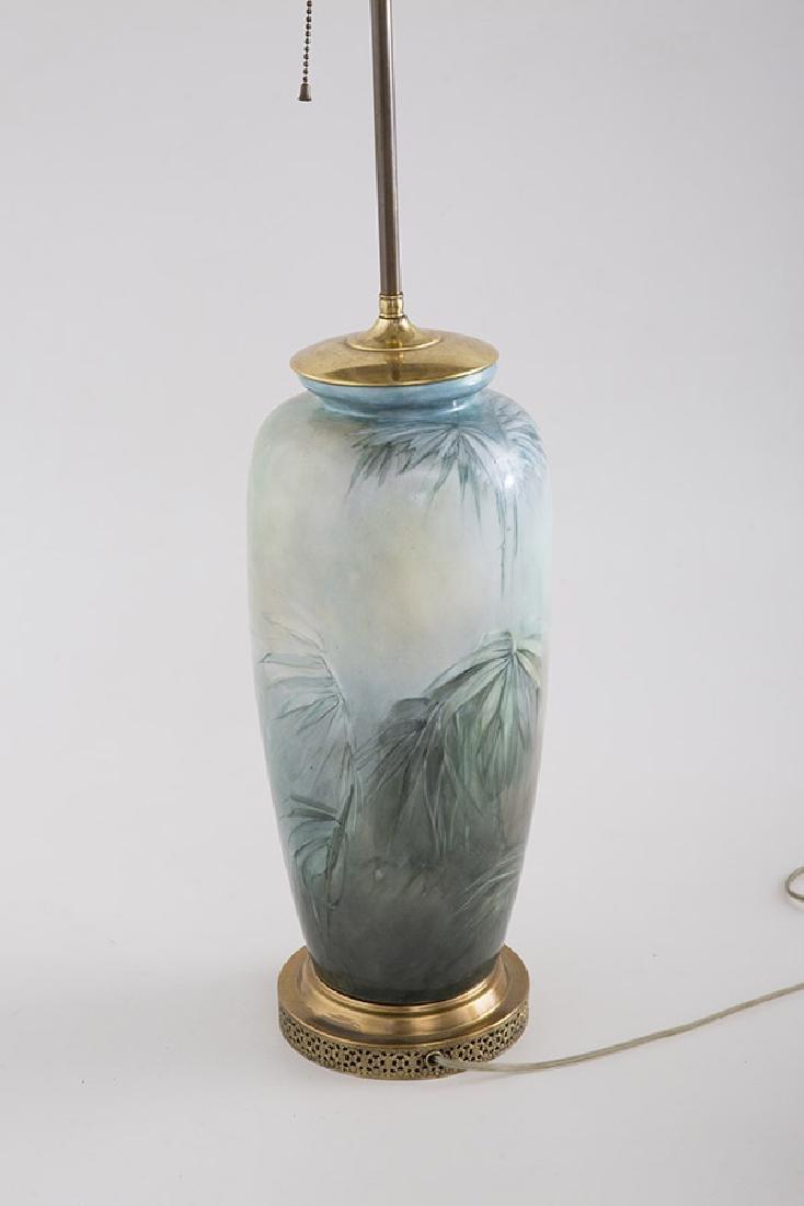 Art Nouveau Porcelain Table Lamp - 4