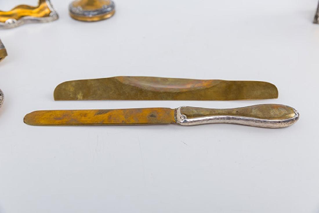 Eleven Arts and Crafts Copper and Sterling Desk Set - 7