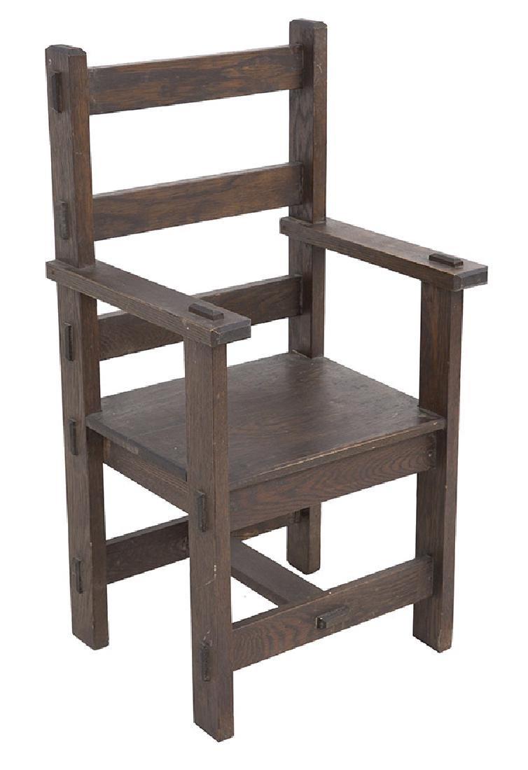 Unusual Arts & Crafts Arm Chair